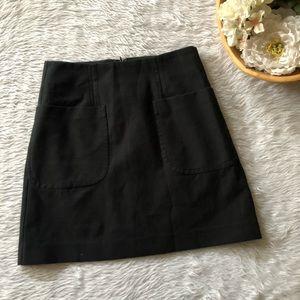 Loft Black Pocket Skirt